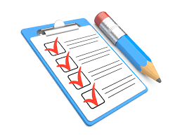 checklist for filling in application forms