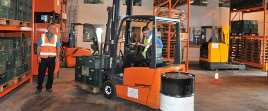 Mantra Learning Apprenticeships Man learning to drive forklift