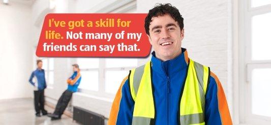 young apprentice working for Aldi retailer
