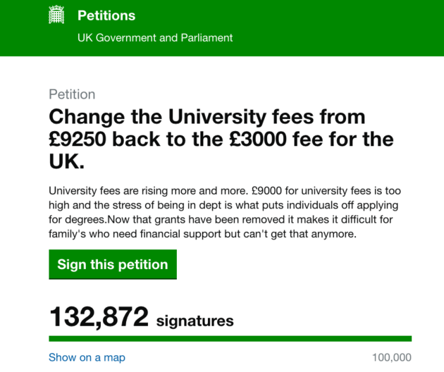 tuition fees debate