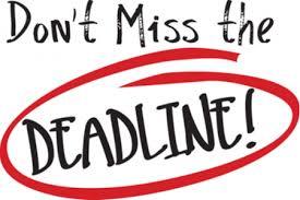 deadlines for graduate programmes