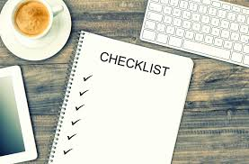 Checklist for preparing for university