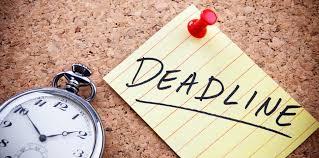 Deadline for graduate programmes