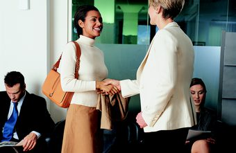make eye contact in an interview