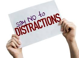 say no to distractions sign
