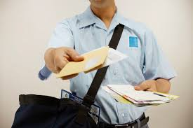 man giving post to someone
