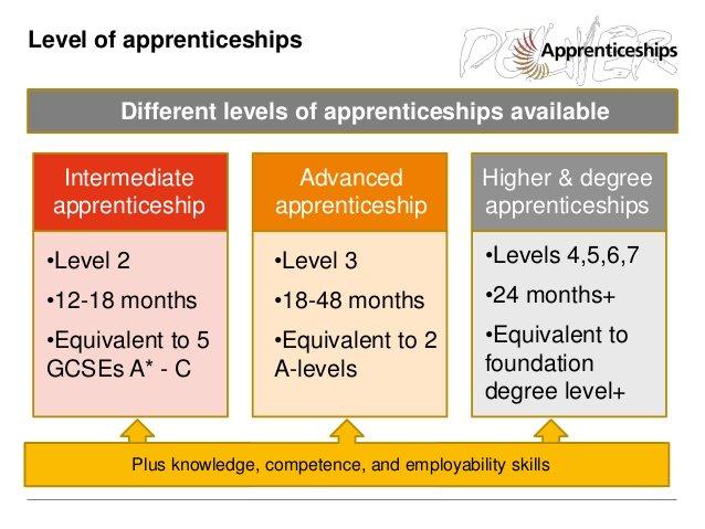 Apprenticeship levels graphic