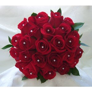 red roses with diamonds in them