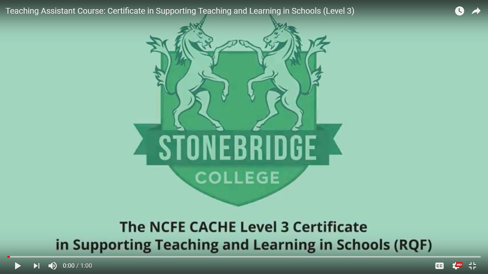 Stonebridge Careers Training Teaching Assistant Course
