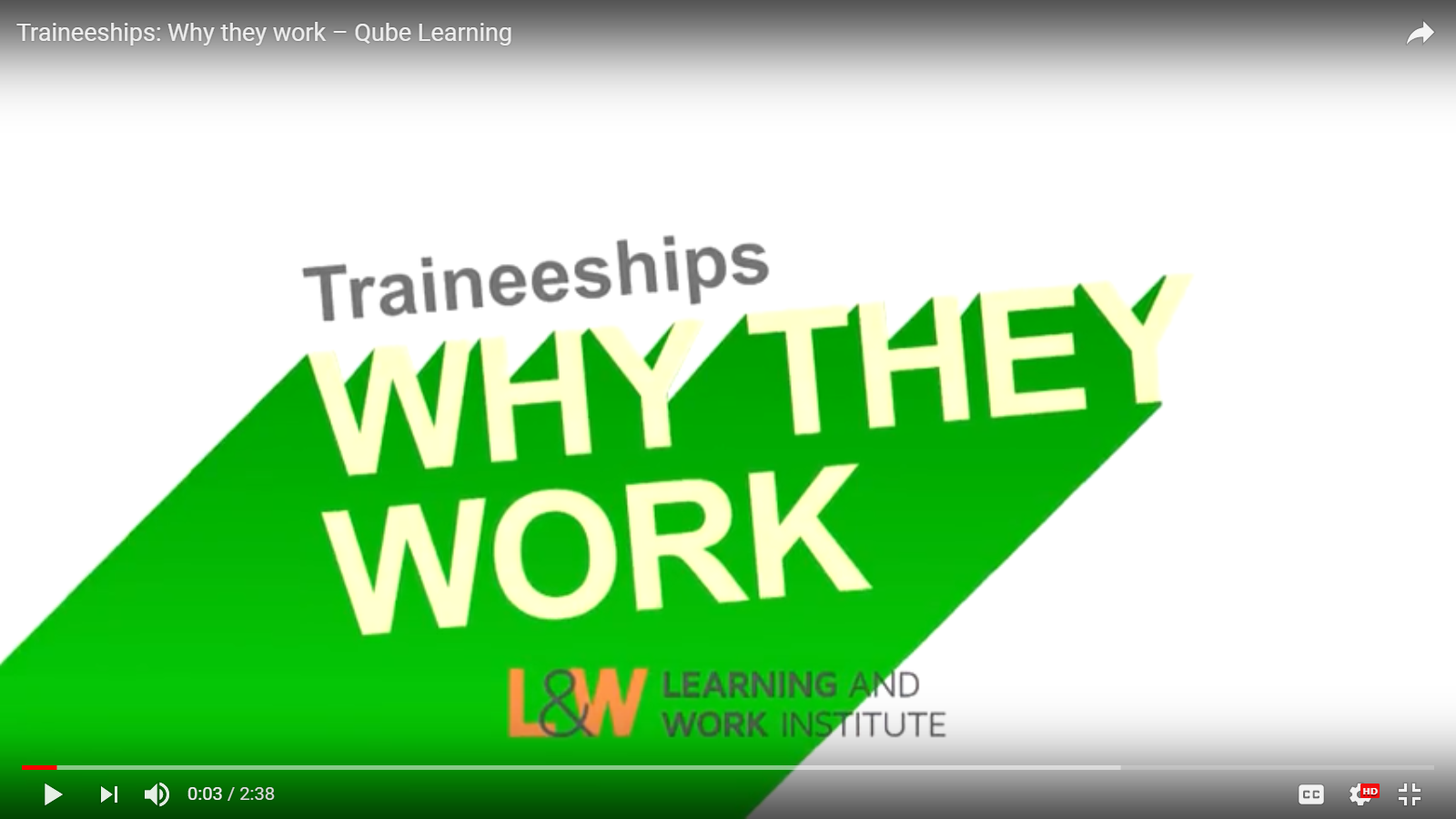 Traineeships video