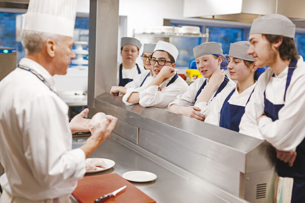 young chef professionals learning by doing