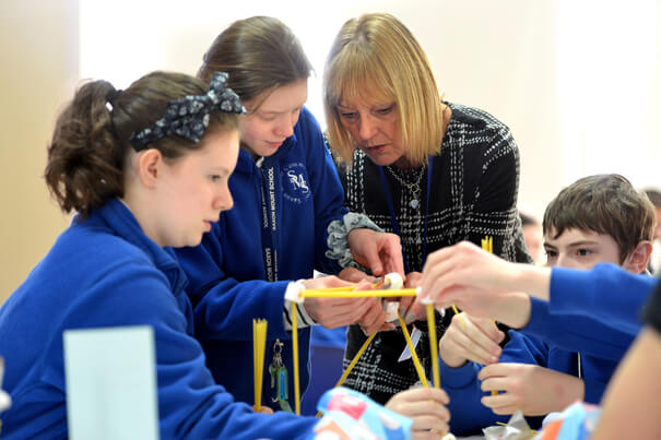 young people learning about careers