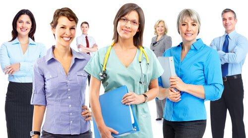 NHS staff in various jobs