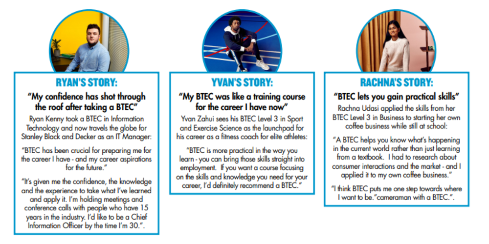 Get the career you want with a BTEC qualification