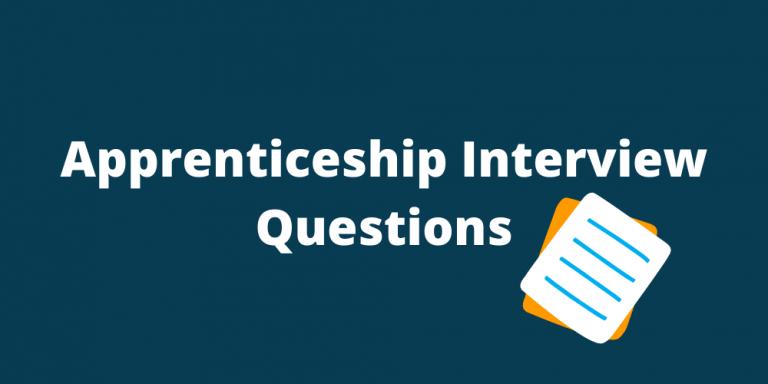 Apprenticeship interview questions banner