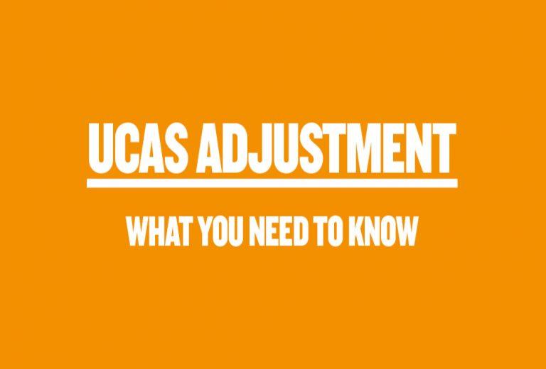 UCAS adjustment orange banner