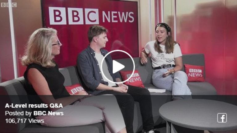BBC News A Level Results Day