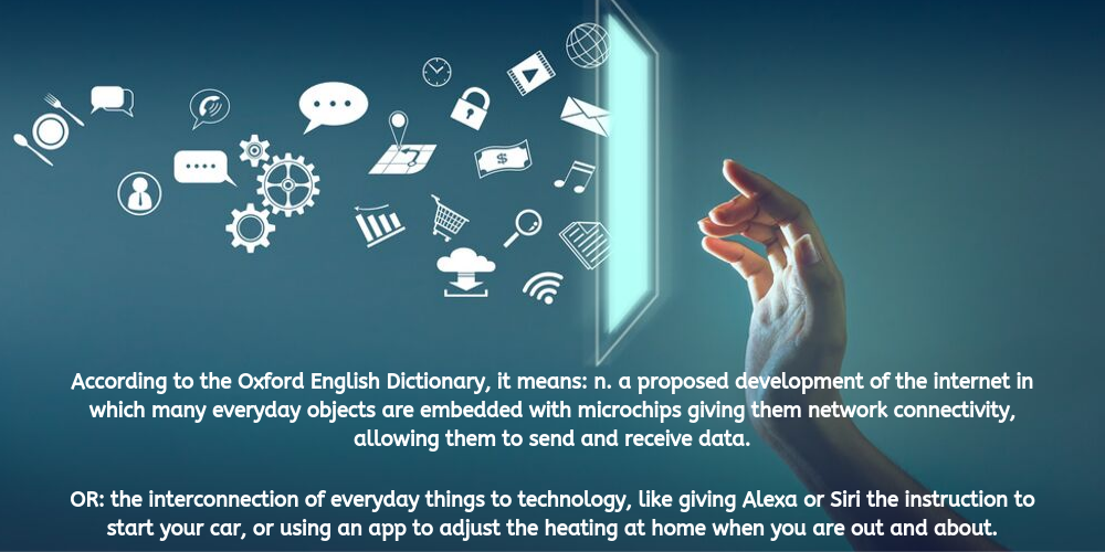 Internet of things definition with technology image