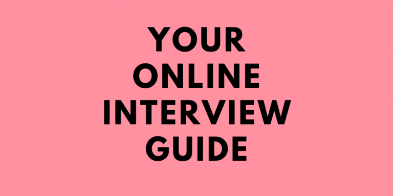 Your Online Video Interview Guide banner