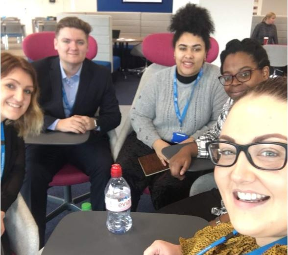 Business Admin apprentices with NHSP Talent Team