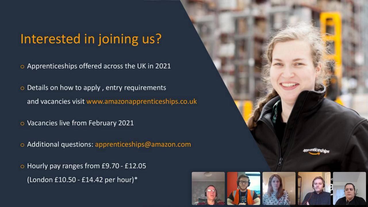 Amazon Entry Level Apprenticeship Programmes