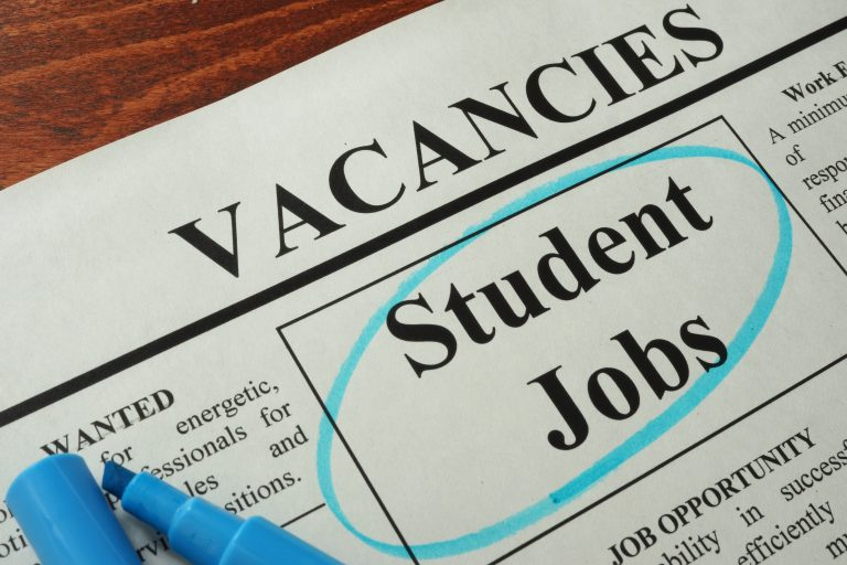 Newspaper with ads student jobs vacancy