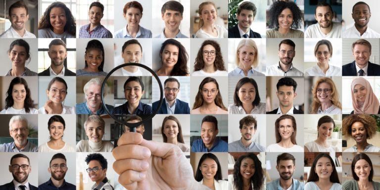 Collage of graduate job seekers