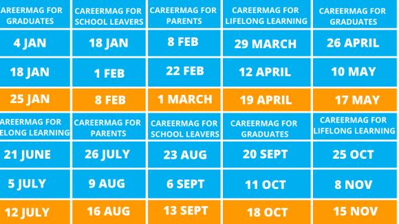 CareerMag publication dates