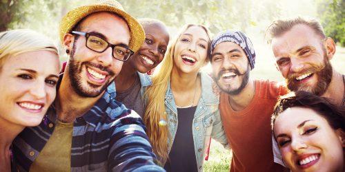 Diverse,Summer,Friends,Fun,Bonding,Selfie,Concept